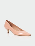 Pippa Patent Leather Kitten-Heel Pumps