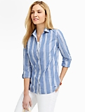 Chambray Multi Stripes Shirt