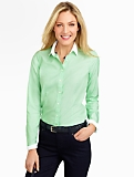 Wrinkle-Resistant Blocked-Collar End-On-End Shirt