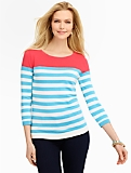 Breton Stripes Back-Button Sweater