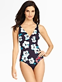 Polynesian Floral One-Piece Suit