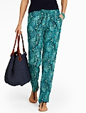 Paisley Relaxed Full-Length Pants