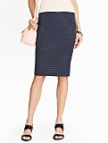 Dot Jacquard Pencil Skirt