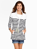 Weekend Engineer-Stripe Cowlneck Top