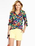 Bright Tropical Flowers Cotton Shirt
