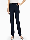 Seasonless Wool Tailored Straight-Leg Pants