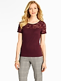 Lace-Yoke Top