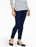 Washable Ponte Zip-Ankle Legging