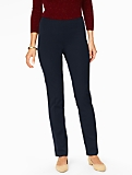 Curvy Fit Bi-Stretch Tailored Slim-Leg Pant