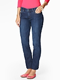 The Flawless Five-Pocket Ankle Jean - Curvy/Delta Blue
