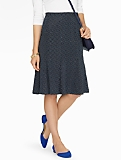 Brisbane Dot Flounced Knit Skirt