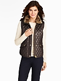 Quilted Leather Vest