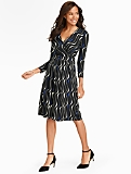 Brushstroke Print Dress