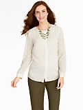 Shadow-Stripe Cable Blouse