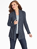 Marled Shawl-Collar Cardigan
