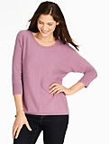 Cashmere Dolman-Sleeve Sweater
