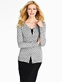 Grey Polka-Dot Charming Cardigan