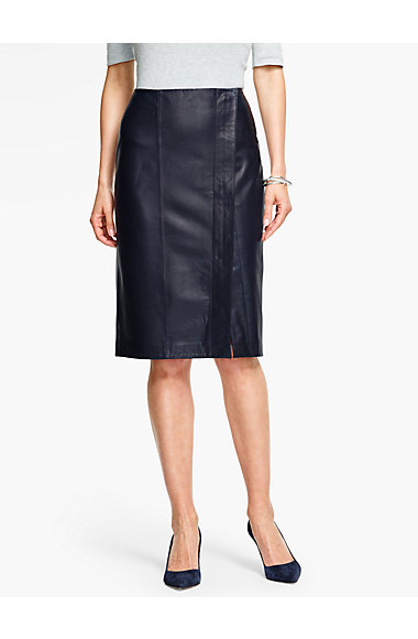 leather pencil skirt talbots