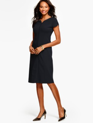 Talbots black sheath dress