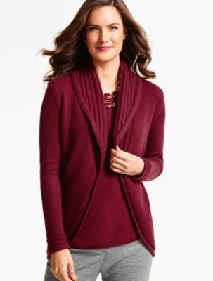 Talbots Women's Shawl Collar Cocoon Cardigan prdi40597