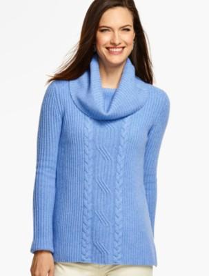 Talbots Women's Cashmere Cowlneck Sweater prdi40516