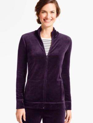 Talbots Women's Luxe Velour Mock Neck Jacket prdi40888