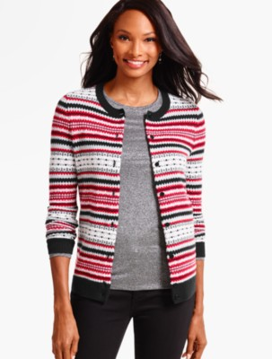 Talbots Women's Charming Cardigan Fair Isle prdi40818