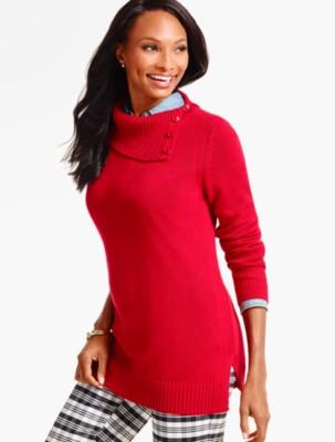 Talbots Women's Split Neck Pullover Sweater prdi41036
