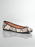 Jaz Python-Embossed Leather Ballet Flats