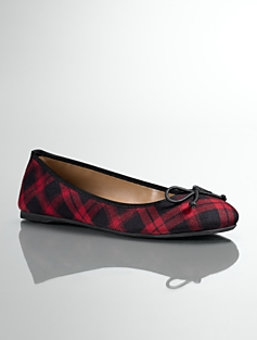 Jilly Buffalo Plaid Ballet Flats