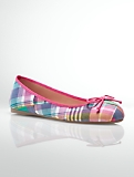 Jilly Madras Plaid Ballet Flats
