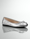 Jilly Exotic Metallic-Leather Ballet Flats