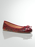 Jilly Python-Embossed Italian Leather Ballet Flats