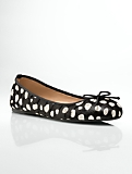 Jilly Animal Dots Haircalf Ballet Flats