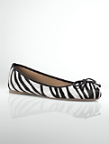 Jilly Zebra Haircalf Ballet Flats