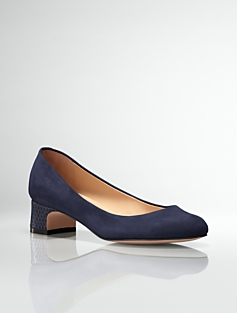 Kyla Suede Almond-Toe Pumps