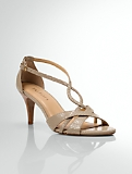 Lana Exotic-Embossed Leather Strappy Sandals