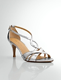 Lana Metallic Leather Strappy Sandals