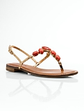 Linden Jeweled Metallic Thong Sandals