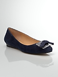 Norelle Suede Bow & Buckle Demi-Wedges