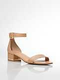 Parisi Tumbled-Leather Ankle-Strap Sandals
