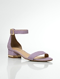 Parisi Exotic-Embossed Nubuck Ankle-Strap Sandals