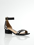 Parisi Zebra Haircalf Ankle-Strap Sandals