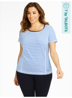 Performance Aspire Striped Short-Sleeve Tee
