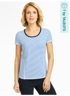 Aspire Striped Short-Sleeve Tee