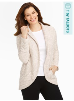 Shiny Boucl� Cocoon Cardigan