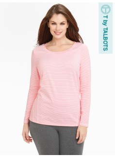 Micro Stripes Fresh Jersey Long-Sleeved Tee