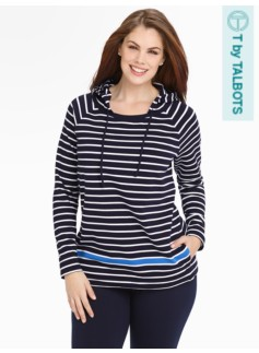 Weekend Terry Engineer-Stripe Hoodie