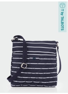 Striped Quilted Crossbody Bag