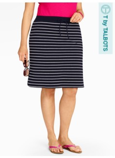 Weekend Terry Match Stripe Skirt